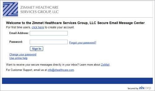 HIPAA Secure Email FAQs - Zimmet Healthcare Services Group, LLC